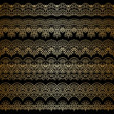 Vector gold ornament. Vector set of borders, decorative elements for design, print, embroidery Royalty Free Stock Photo