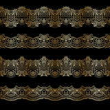 Vector gold ornament. Vector set of borders, decorative elements for design, print, embroidery Royalty Free Stock Photos