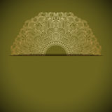 Vector gold ornament. Vintage gold floral ornament with place for text Royalty Free Stock Image
