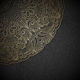 Vector gold ornament. Vintage gold floral ornament with place for text Royalty Free Stock Photos