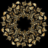 Vector gold ornament. Royalty Free Stock Image