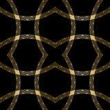 Vector gold ornament. Vector vintage gold geometrical floral ornament. Seamless background Stock Photos