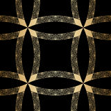 Vector gold ornament. Vector vintage gold geometrical floral ornament. Seamless background Royalty Free Stock Photo