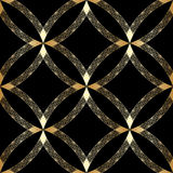 Vector gold ornament. Vector vintage gold geometrical floral ornament. Seamless background Stock Image