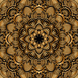 Vector gold ornament. Stock Photography