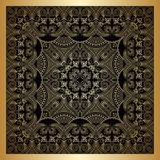 Vector gold ornament. Vector vintage pattern for print, embroidery (you can use this pattern for carpet, shawl, pillow, cushion Royalty Free Stock Image