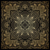 Vector gold ornament. Vector vintage pattern for print, embroidery (you can use this pattern for carpet, shawl, pillow, cushion Stock Images