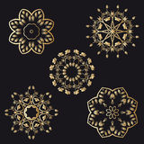 Vector gold ornaments. Stock Photos