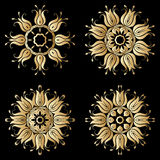 Vector gold ornaments. Stock Images