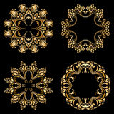 Vector gold ornaments. Royalty Free Stock Photography