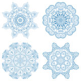 Vector gold ornaments. Vector vintage floral round patterns for print, embroidery Stock Photo