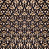 Vector gold ornate damask background in Eastern style. Seamless abstract decorative elegant pattern. Vector gold ornate damask background in Eastern style Royalty Free Stock Photography