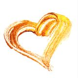 Vector gold paint heart on transparent background. Love concept design Royalty Free Stock Image