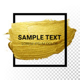 Vector gold paint stroke Stock Photos