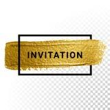 Vector gold paint stroke vector illustration