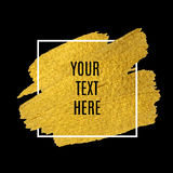 Vector gold paint stroke with border frame Royalty Free Stock Photography