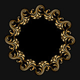 Vector gold round ornament. Stock Image