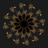 Vector gold round ornament. Royalty Free Stock Photography