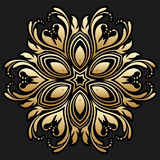 Vector gold round ornament. Stock Images