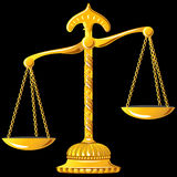 Vector gold scale of justice Royalty Free Stock Images