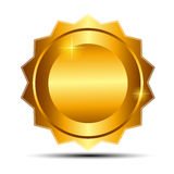 Vector gold sign, label template Royalty Free Stock Images