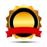 Vector gold sign, label template. This is file of EPS10 format Stock Image