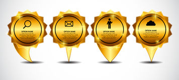 Vector Gold Sign, Label Template Illustration. EPS10 Stock Photo