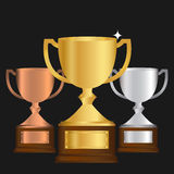 Vector of Gold Silver and bronze Trophy Royalty Free Stock Photo