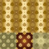 vector Gold and silver seamless floral pattern Royalty Free Stock Photography