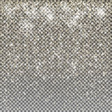 Vector gold snow glitter stardust christmas background.Sparkling Royalty Free Stock Photography
