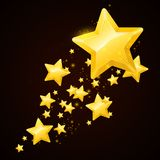 Vector gold star black background design Stock Photo