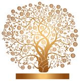 Vector gold tree Stock Photo