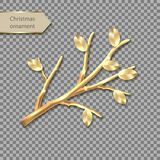 Vector gold twig royalty free illustration