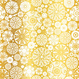 Vector Gold White Abstract Doodle Circles Seamless Pattern Background. Great for elegant  texture fabric, cards, weddin Royalty Free Stock Photos