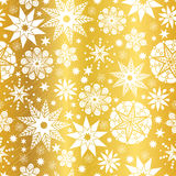 Vector Gold White Abstract Doodle Stars Seamless Pattern Background. Great for elegant texture fabric, cards, wedding. Invitations, wallpaper. Textile pattern Stock Photography