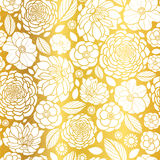 Vector Gold and White Mosaic Flowers Seamless Repeat Pattern Background Design. Great For Elegant wedding invitations Stock Images