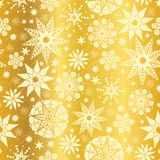 Vector Gold Yellow Abstract Doodle Stars Seamless Pattern Background. Great for elegant texture fabric, cards, wedding. Invitations, wallpaper. Textile pattern Stock Photography