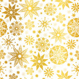 Vector Golden Abstract Doodle Stars Seamless Pattern Background. Great for elegant gold texture fabric, cards, wedding. Invitations, wallpaper. Surface pattern Stock Photos