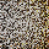 Vector golden abstract retro vintage pixel mosaic Stock Photography