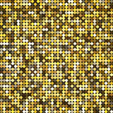 Vector golden abstract retro vintage pixel mosaic Royalty Free Stock Image