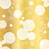 Vector Golden Abstract Swirls Seamless Pattern Background. Great for elegant gold texture fabric, cards, wedding Stock Photos