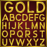 Vector golden alphabet Royalty Free Stock Image