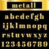 Vector golden alphabet. Illustration EPS 10 Stock Photography