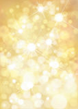 Vector golden background. Vector bokeh, sparkle, golden background Royalty Free Stock Photography