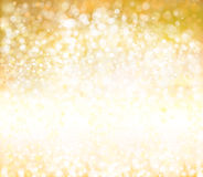Vector golden background. Vector bokeh, sparkle, golden background Stock Photography