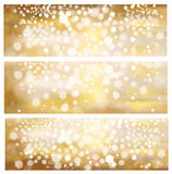 Vector golden backgrounds. Royalty Free Stock Image
