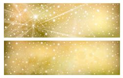 Vector  golden backgrounds. Vector starry, sparkle, golden backgrounds Stock Photo