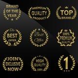 Vector golden badges Stock Images