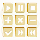Vector golden buttons Royalty Free Stock Images