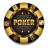 Vector golden Casino chip. Gambling. Poker chip. Black Jack. 21. Las Vegas. Game stock illustration